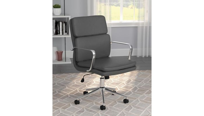 Deco Grey Leather Office Chair