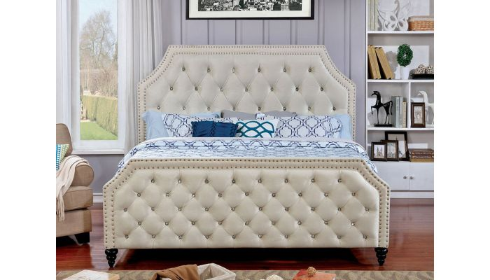 Degree Crystal Tufted Fabric Bed