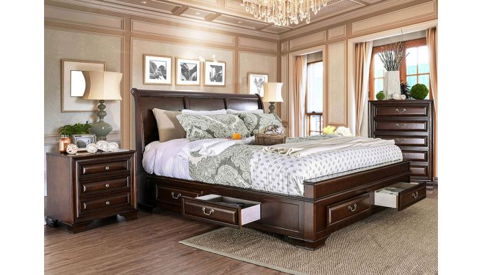 Delano Sleigh Bed With Drawers
