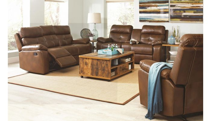 Denisa Leather Recliner Sofa Collection