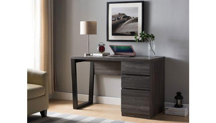 Depon Office Desk Rustic Gray Finish