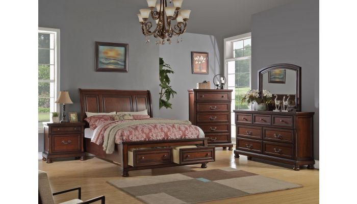 Derby Sleigh Bed With Storage Drawers
