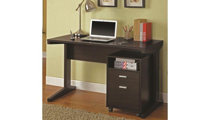 Bracie Computer Desk With File Cabinet