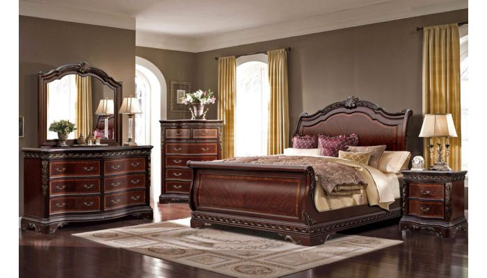 Dorothy Traditional Style Sleigh Bed