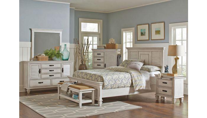 Draper Antique White Bedroom Furniture