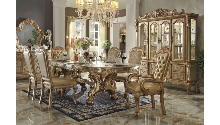 Dresden Gold Formal Dining Table Set