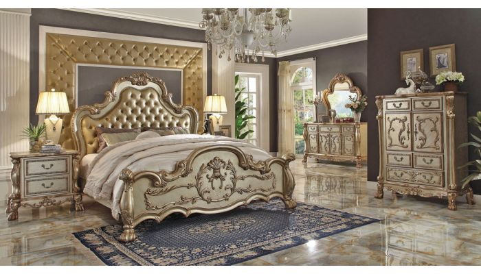 Dresden Gold Patina Master Bed Collection