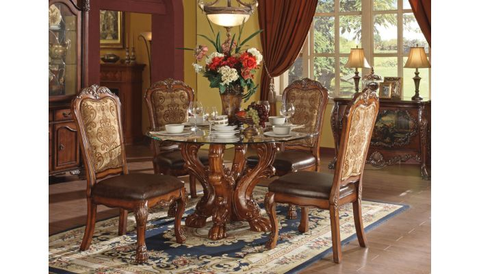 Dresden Round Glass Top Table Set