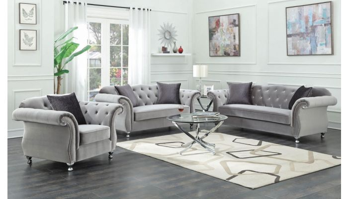 Elva Chesterfield Living Room Furniture
