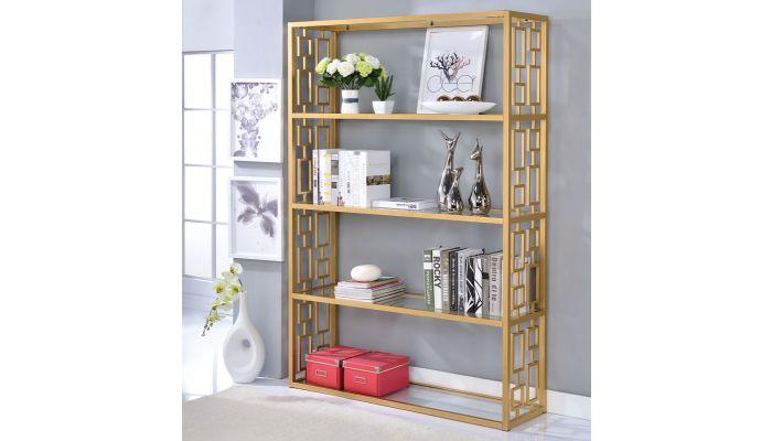 Enigma Gold Finish Bookshelf