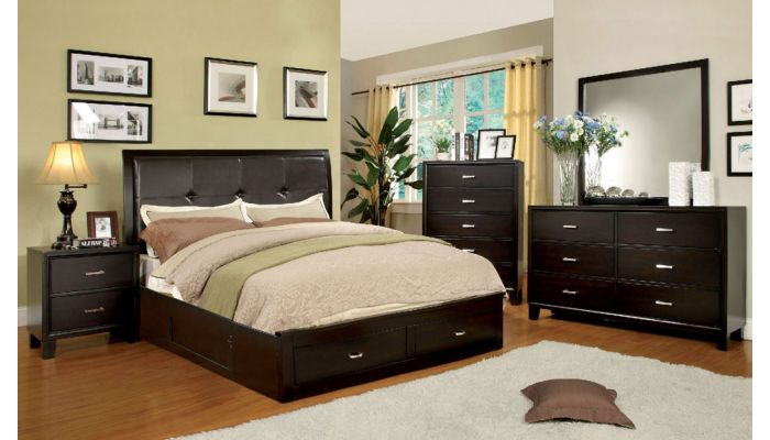 Enrico Espresso Finish Bed Storage
