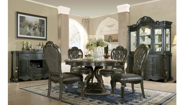 Evelyn Formal Round Dining Table Set