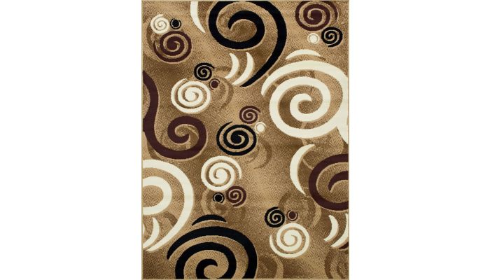 Elianore Area Rug Abstract Shapes