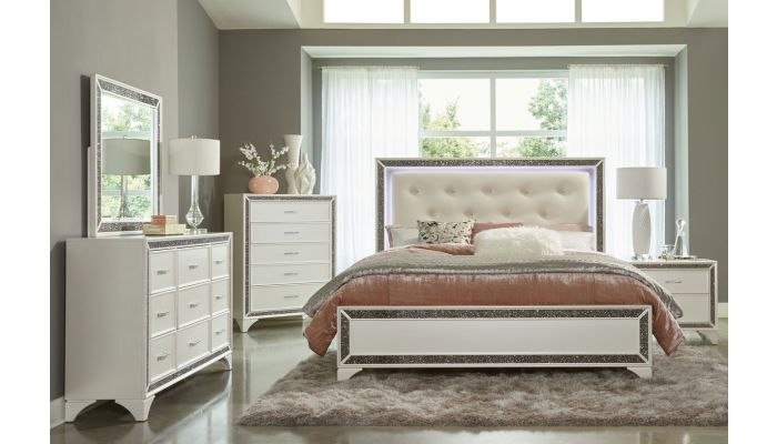Fantasia Modern Bed With LED Light