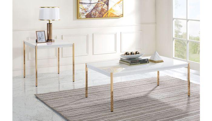 Ferron White Lacquer Coffee Table