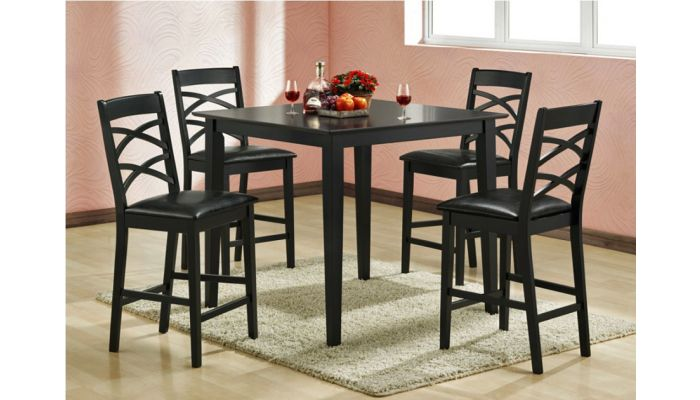 Lancaster Black Counter Height Table Set