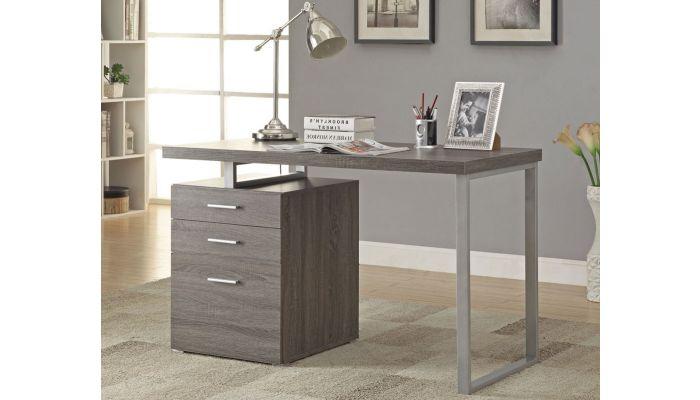Finley Contemporary Gray Office Desk