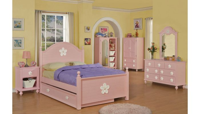 Floresville Pink Youth Bed Collection
