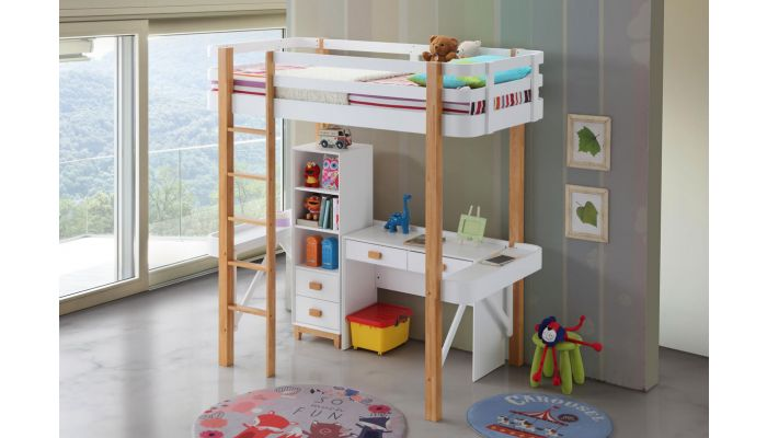 Flynn Twin Loft Bed With Desk