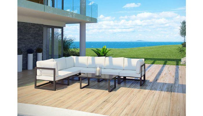 7 Piece Modern Outdoor Sectional Set