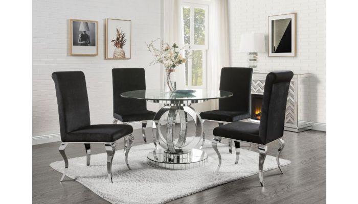 Freya Round Mirrored Dining Table