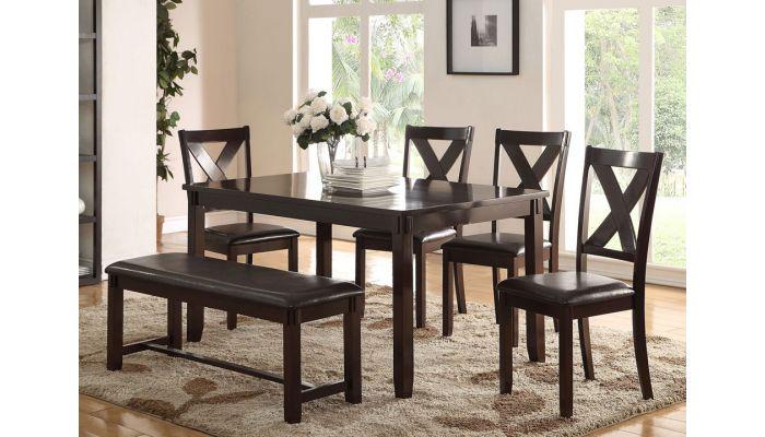 Galina Casula Dining Table Set With Bench