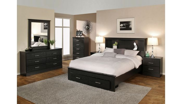 Gamma Modern Bed With Two Drawers