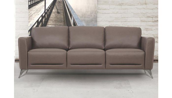 Garland Taupe Italian Leather Sofa