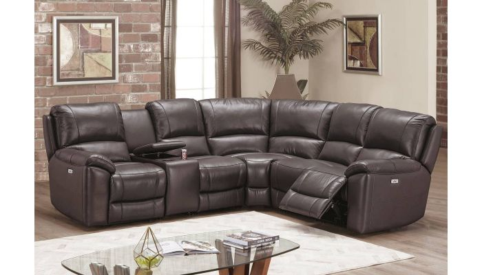 Gary Top Grain Leather Power Recliner Sectional