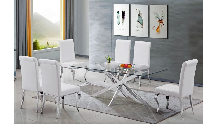 Geelong Glass Top Dining Table