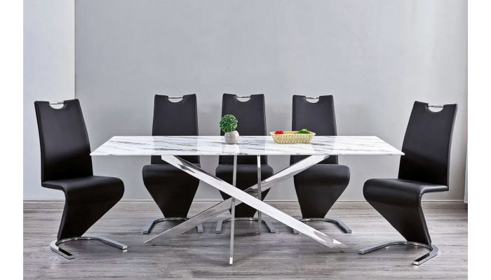 Geelong Marble Top Dining Table