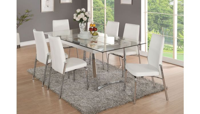 Gerrit Extendable Glass Modern Dining Table