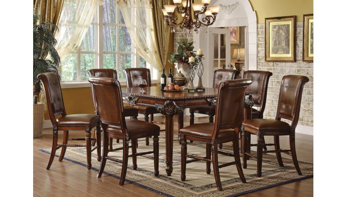Giusto Square Pub Table With Chairs