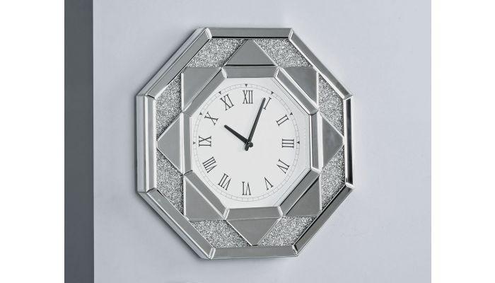 Glimmer Mirrored Wall Clock