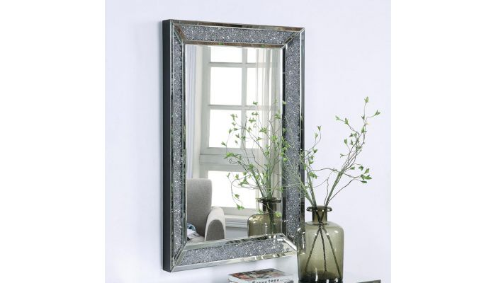 Glimmer Wal Mirror With Crystal Trim