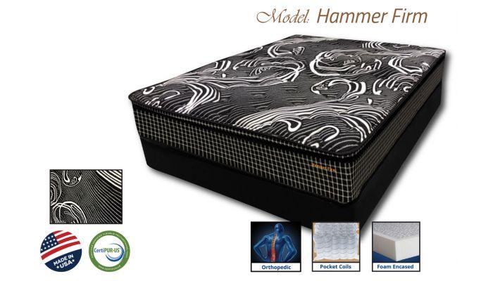 Hammer Firm Mattress Foam Encased