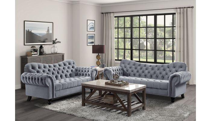 Hampstead Tufted Velvet Living Room
