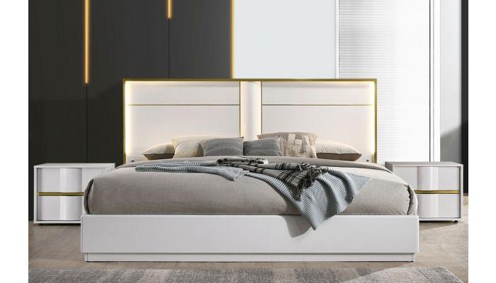 Hana Modern Bed With Lights