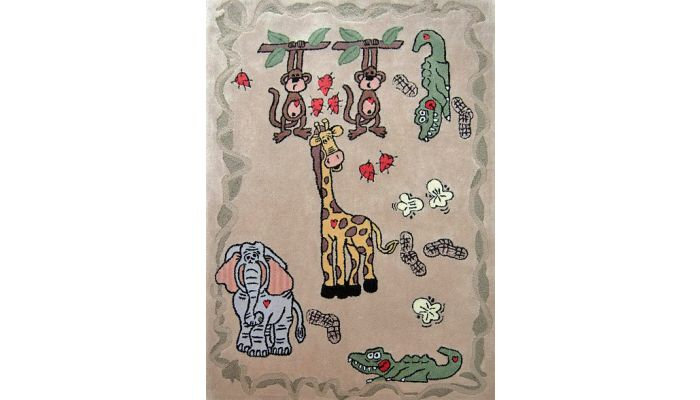 Happy Life Kids Room Hand Tufted Rug