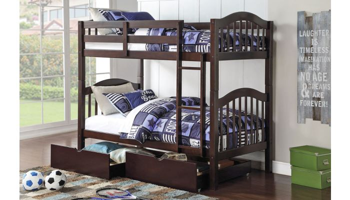 Harriet Espresso Twin Over Twin Bunk Bed