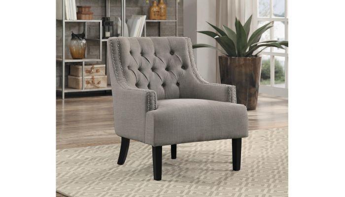 Marvelous Hartwell Accent Chair Grey Linen Short Links Chair Design For Home Short Linksinfo