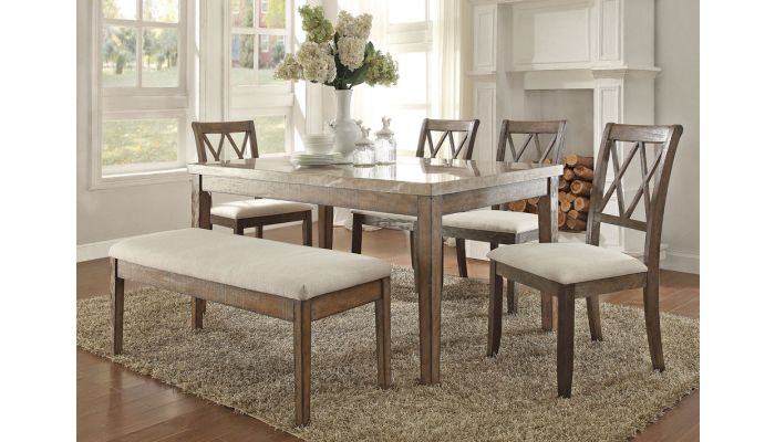 Harve Marble Top Dining Room Set