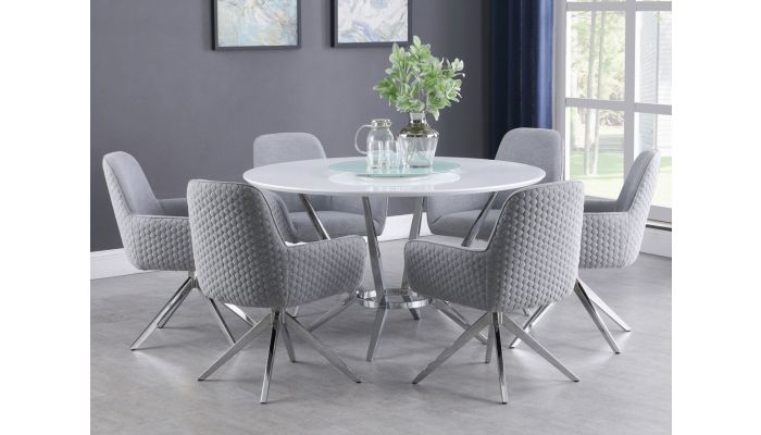 Havre Round Dining Table Set, Modern Round Dining Table Set