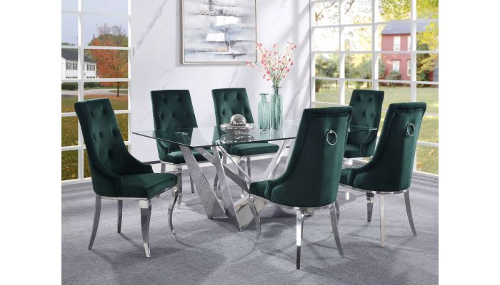 Healy Glass Top Dining Table