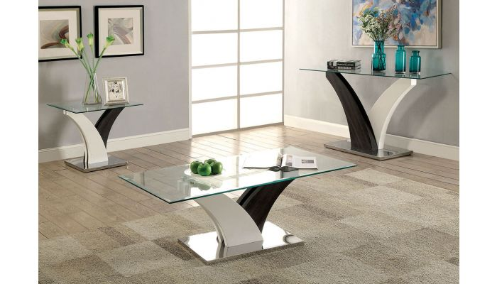 Helix Grey White Modern Coffee Table