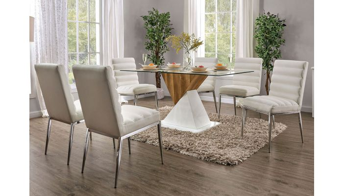 Helix Modern Gl Top Dining Table