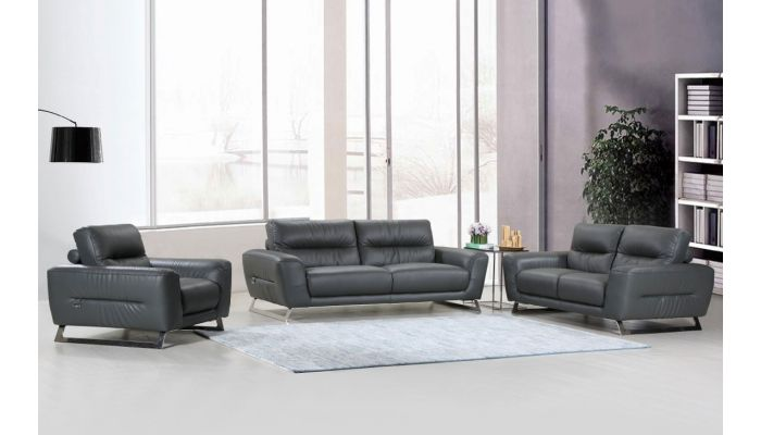 Hendrix Living Room Italian Leather