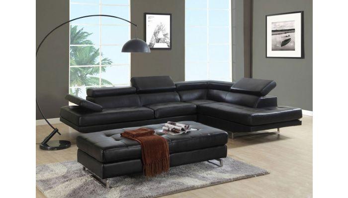 Strange Hester Black Leather Corner Sofa Cjindustries Chair Design For Home Cjindustriesco