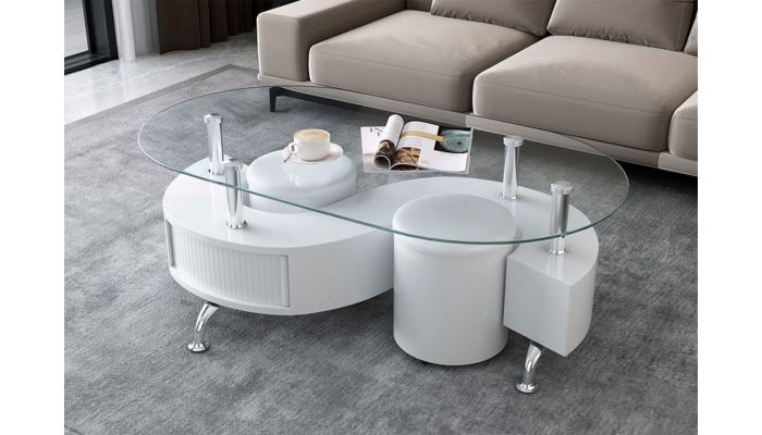 Hexter Coffee Table With Two Stools