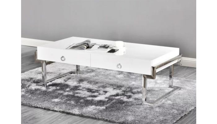 Highlawn White Lacquer Coffee Table